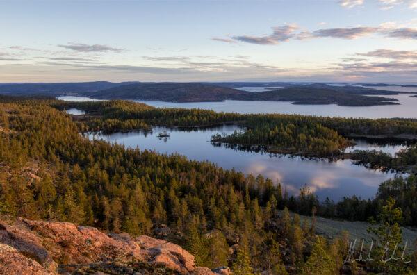 Slåttdalsberget med vy över Tärnättvattnen.