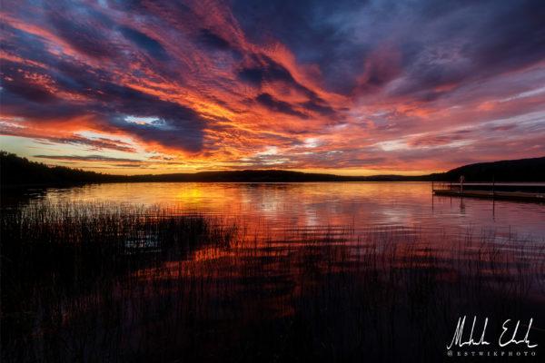 Solnedgång vid Drömmesjön