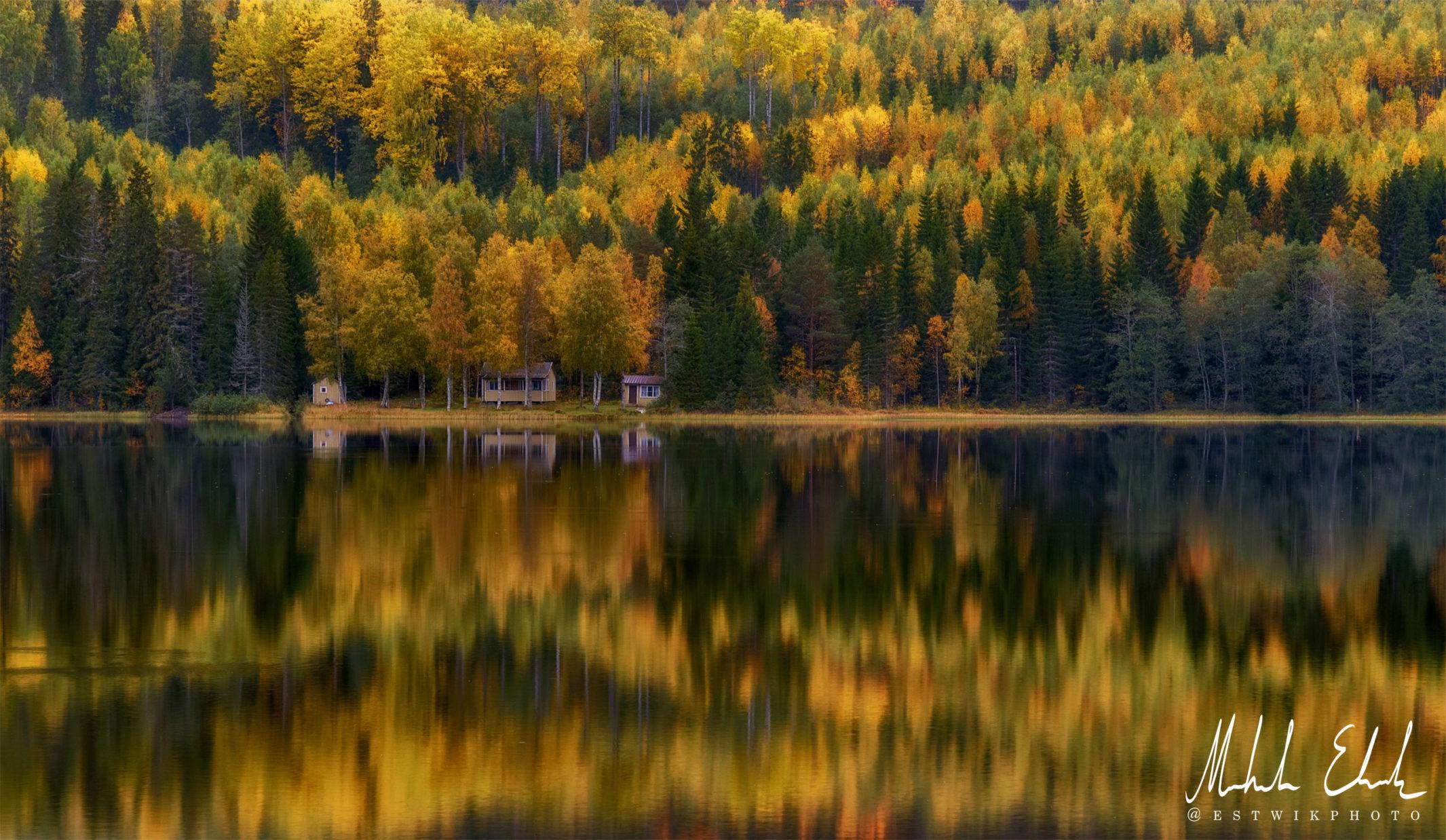 Höstvy vid Utbysjön