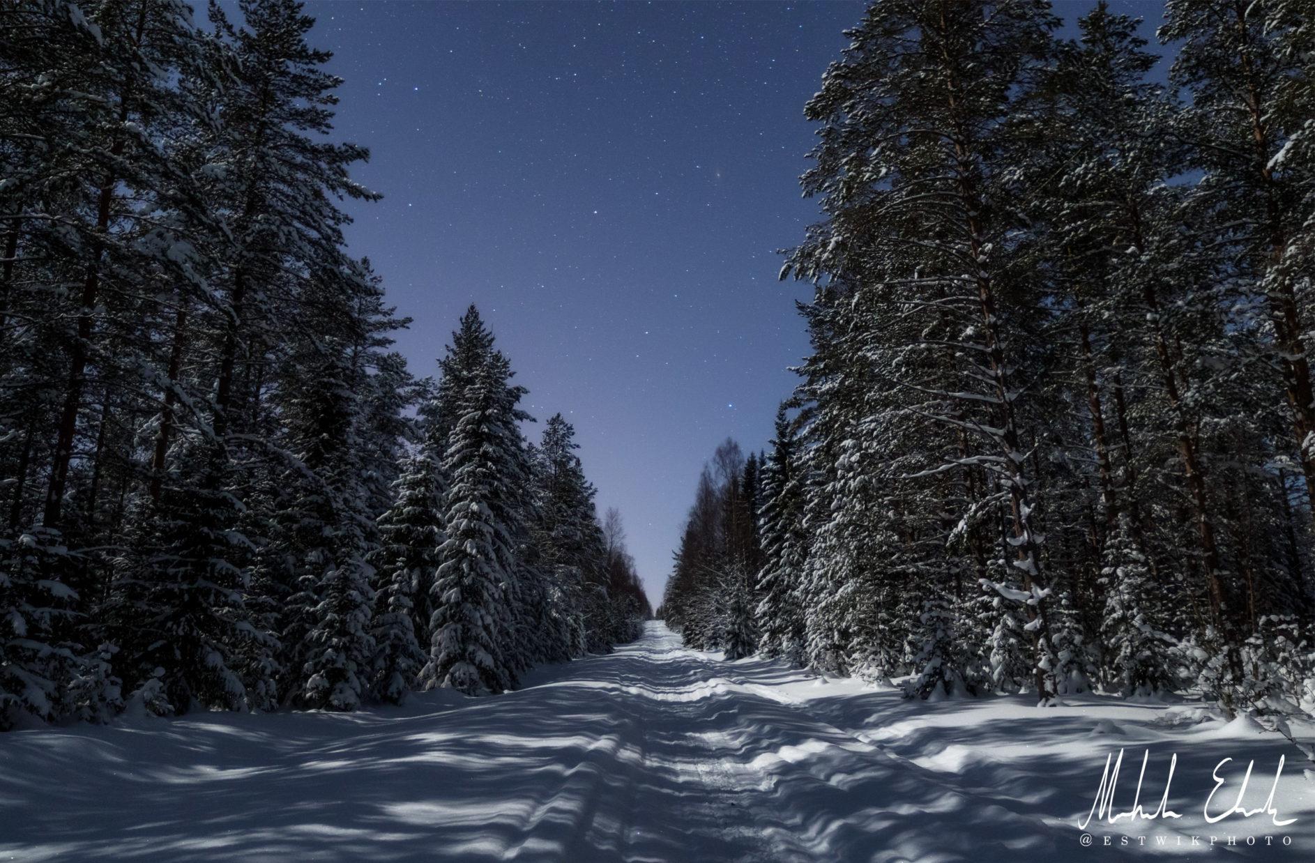 En kall vinternatt och Andromeda