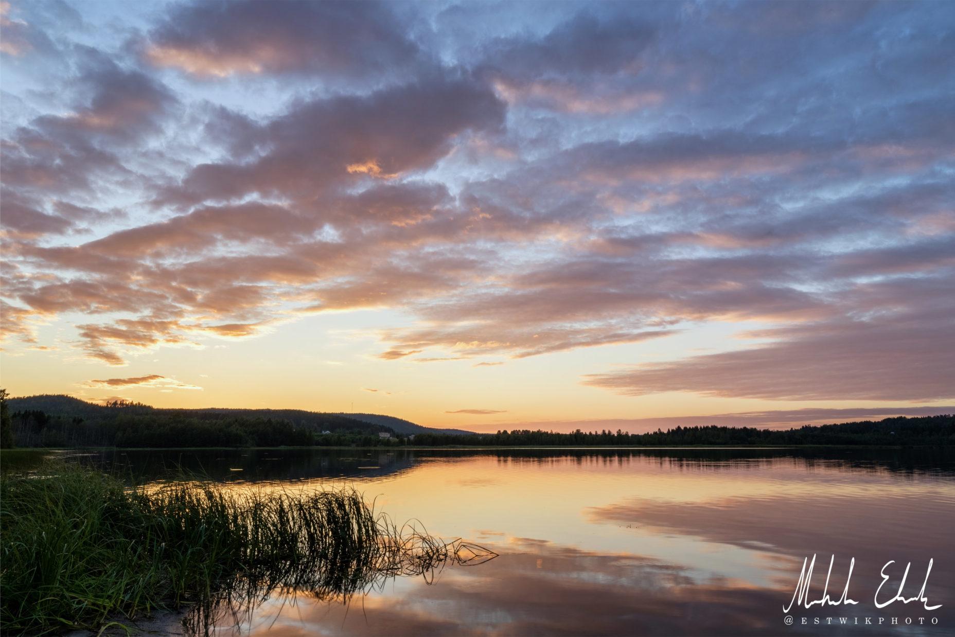 Solnedgång vid Svedjefjärden