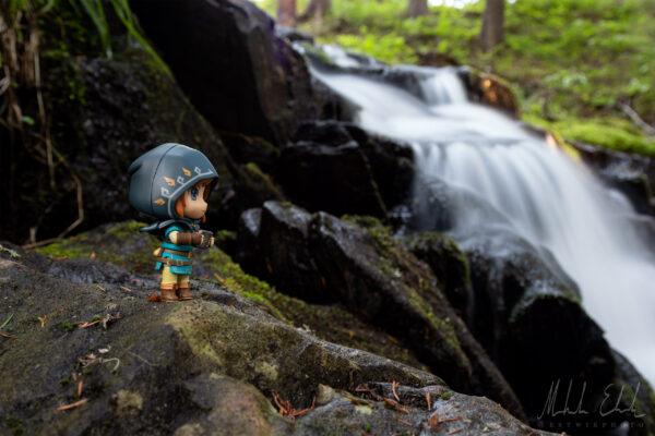 Link har hittat ett nytt vattenfall