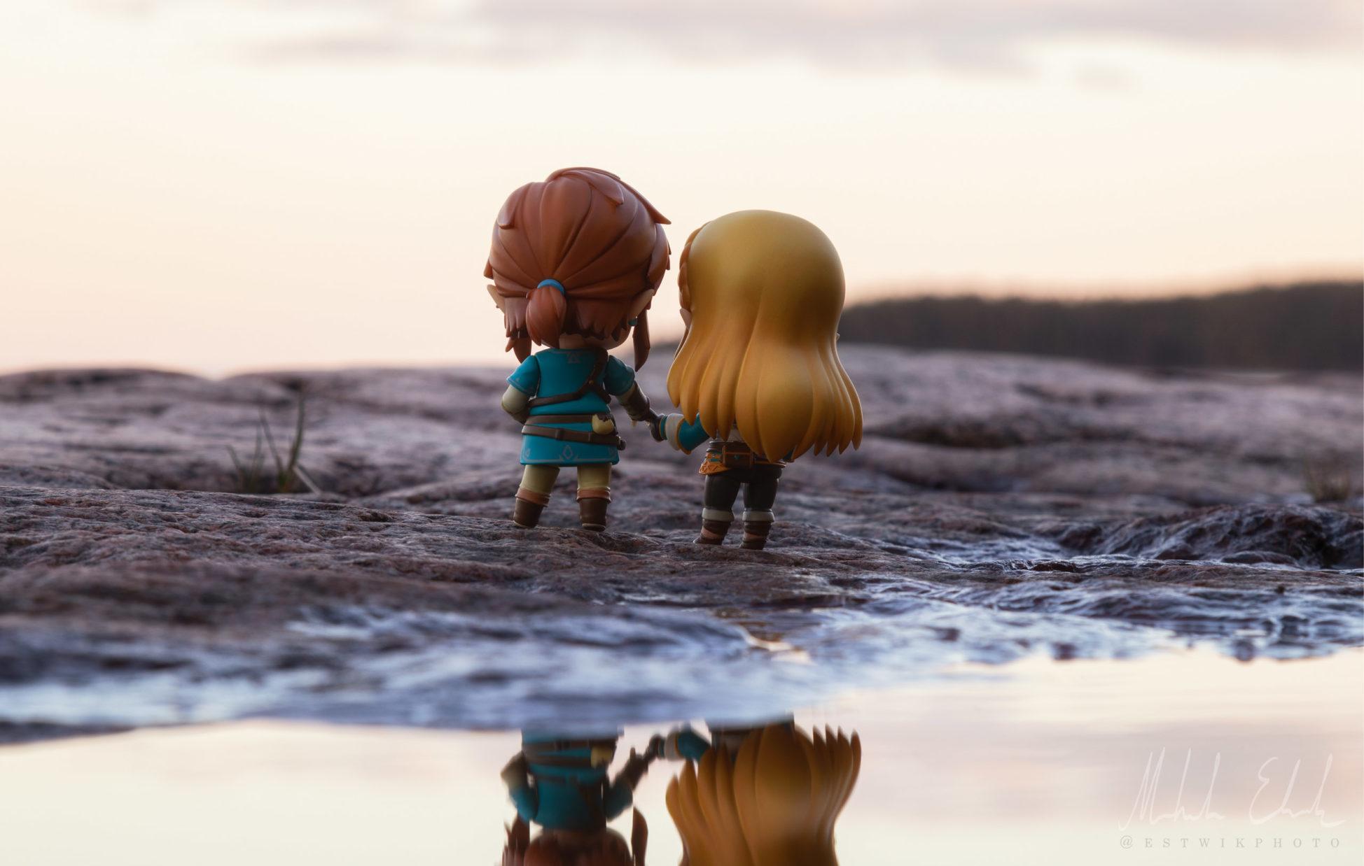 Link och Zelda vid solnedgången