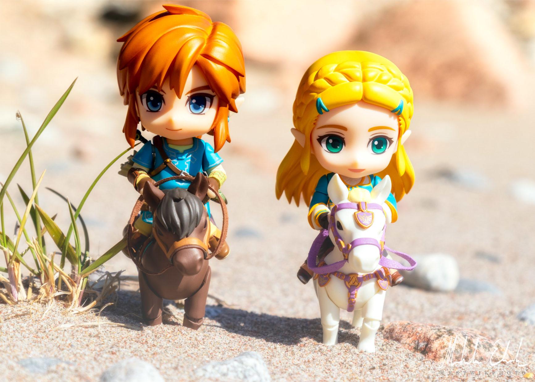 Link och Zelda i Gerudo Desert