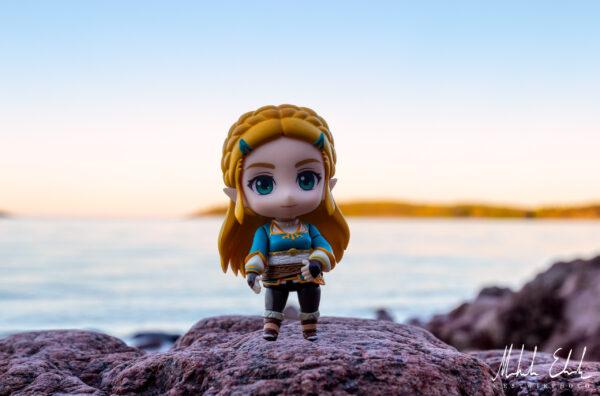 Zelda vid havet